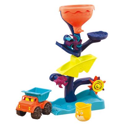 北美 B.Toys/比乐 猫头鹰回转水车儿童沙漏流水转轮玩水沙滩玩具