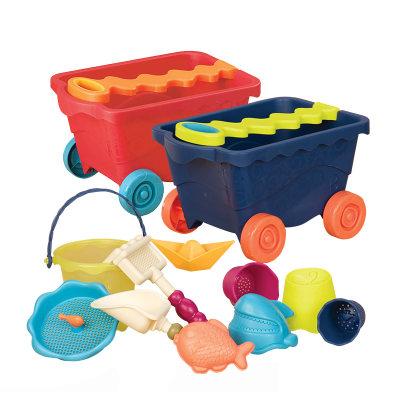 北美 B.Toys/比乐 旅游海滩旅行车 儿童沙水区游戏玩具