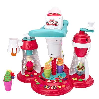美国 PlayDoh/培乐多 创意厨房超级旋风冰激凌E1935彩泥橡皮泥儿童玩具