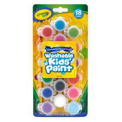 美国 Crayola/绘儿乐 18色可水洗儿童顏料