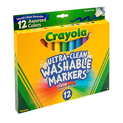 美国 Crayola/绘儿乐 12色粗杆可水洗水彩笔