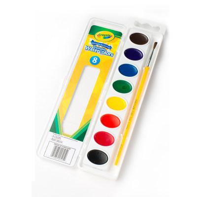 美国 Crayola/绘儿乐 8色/16色 可水洗固体顏料