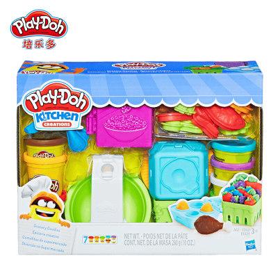 美国 PlayDoh/培乐多 彩泥创意厨房超市买买乐套装无毒橡皮泥儿童手工玩具